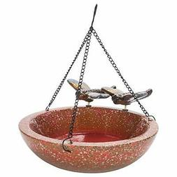 Design Imports Botanical Dragonfly Ceramic Bird Bath Feeder
