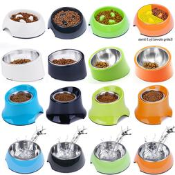 Super Design Dog Bowl Slow Feeder Tilted Raised Dog Bowl Ele