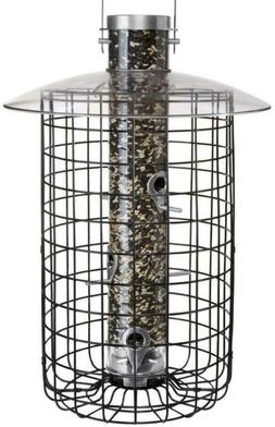 Droll Yankees Domed Cage Sunflower Seed Bird Feeder, 20 Inch