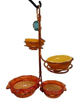 Double Cup/Double Fruit Copper Oriole Bird Feeder