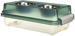 Iris Double Diner Elevated Dog Feeder with Airtight Storage,