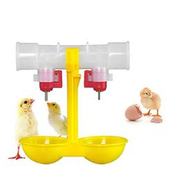 Delight eShop Double Outlet Drinking Hanging Chickens Cups N
