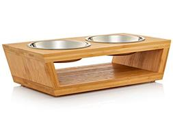 double raised pet bowls cats