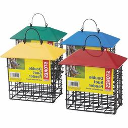 Stokes Select Double Suet Bird Feeder with Metal Roof, Two S