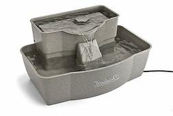 Drinkwell Rectangle Multi-Level Plastic Fountain