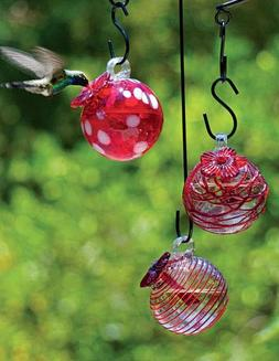 Gardener's Supply Company Droplet Hummingbird Feeders, Set o