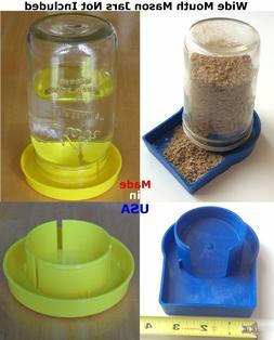 USA 2 pcs DROWN PROOF Yellow Chick Mason Jar Waterer  Poultr