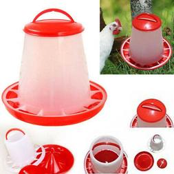 ED76 Plastic Chicken Quail Poultry Chick Drinker Food Feeder