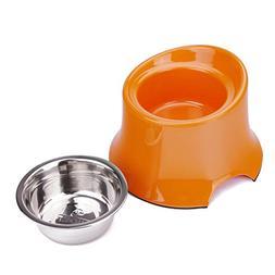 Super Design Elevated Dog Bowl Raised Dog Feeder for Food an