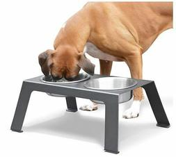 PetFusion Elevated Dog Bowls in Premium Anodized Aluminum St