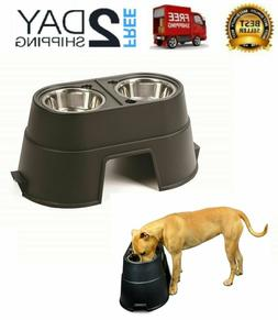 Elevated Dog Feeder, Elevated Dog Bowl Stand, Dog Food and W