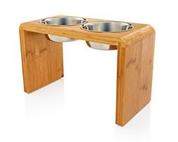 "Premium 12"" Elevated Dog Pet Feeder, Double Bowl Raised Stan"