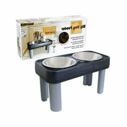 ELEVATED DOG FOOD & WATER BOWL STAINLESS STEEL FEEDER for LA