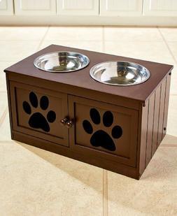 Elevated Dog Food Feeder Raised Feeding Station Healthy Pet