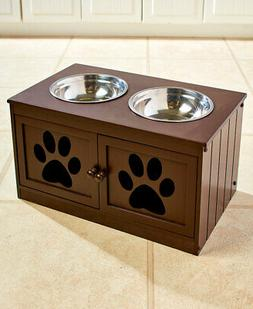 Elevated Pet Dog Bowls Feeder Raised Food Bowl Water Dish wi