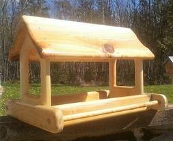 Extra large, cedar wood fly through, platform bird / squirre