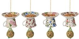 Esschert Design FB242 Tea Cup with Saucer Upside Down Feeder