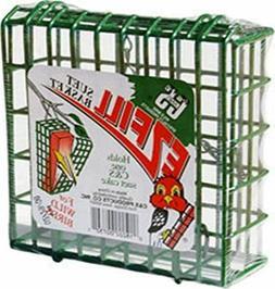 fill suet basket bird feeder green metal