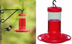 First Nature 993051-546 16 oz. Hummingbird Feeder, Red 1 Pac