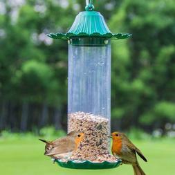 Garden Bird Feeder Wild Bird Food Box Rainproof Automatic Ou