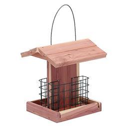 Worth Garden Cedar Bird Feeder with Double Suet Holder