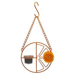Gray Bunny GB-6887 Oriole Wild Bird Feeder, Orange Clementin