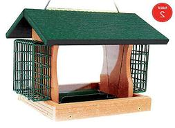 Woodlink Going Green Large Premier Bird Feeder With Suet Cag