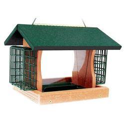 Woodlink Going Green Large Premier Bird Feeder With Suet Cag