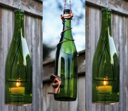 Green and Copper Bird Feeder and Lantern Set - Gifts for Mom