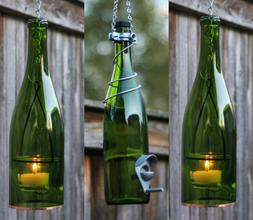 Green and Silver Bird Feeder and Lantern Set - Gifts for Mom