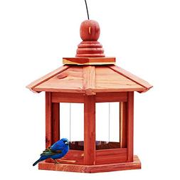 Homes Garden Hanging Bird Feeder Lantern Bird Feeder Red Ced