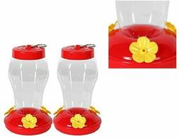 Hanging Hummingbird Feeder - 6.75 Inches - 2 Pack