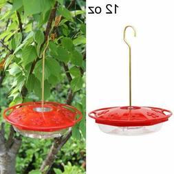Juegoal 12 oz Hanging Hummingbird Feeder with 8 Feeding Port