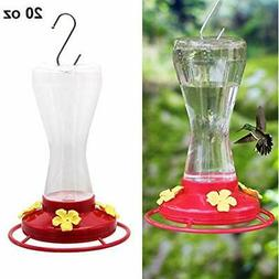 Twinkle Star Hanging Hummingbird Feeder For Outdoors With 4