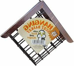hanging suet basket w roof