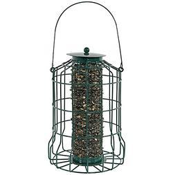 Sunnydaze Outdoor Hanging Wild Bird Feeder, Metal Wire Cage,