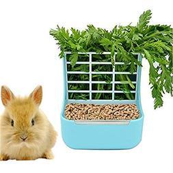 zswell Hay Food Bin Feeder, Hay and Food Feeder Bowls Manger