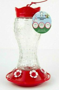 Heavy Duty Glass Hummingbird Feeder with 6 feeding ports, be
