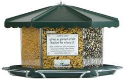 Homestead Triple Bin Bird Feeder Acrylic 3 Compartment 11-1/