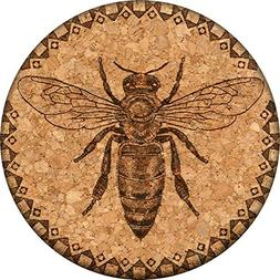 Honey Bee Cork Coaster
