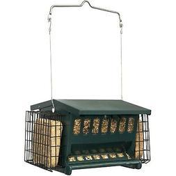 Hopper Bird Feeder Wild Yard Suet Cages Hanging Garden Outdo
