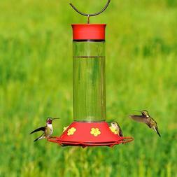 Hummingbird Feeder Glass For Outdoor Bird Nectar Red Station