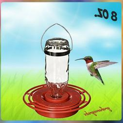 BEST-1 HUMMINGBIRD FEEDER with 8 oz. GLASS BOTTLE, Made in t