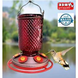 Hummingbird Feeder Red Mason Jar Feeding Bottle Bird Feeder