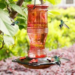 Hummingbird Feeders for Outdoors, 26 oz Wild Bird Feeder wit