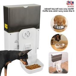 Hung on Cage Automatic Pet Food Feeder Dispenser Dog Cat Sma