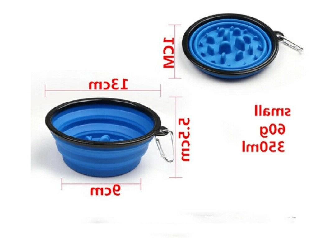 1 Collapsible Cat Interactive Bowls Slow Dish