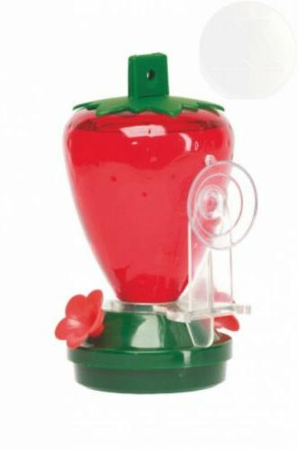 12 ounce plastic strawberry window mounting hummingbird