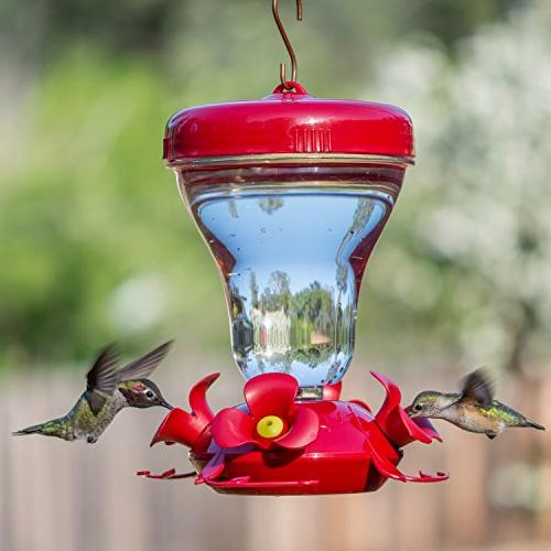 Perky-Pet Push-Pull 16-ounce Magnolia Hummingbird Feeder