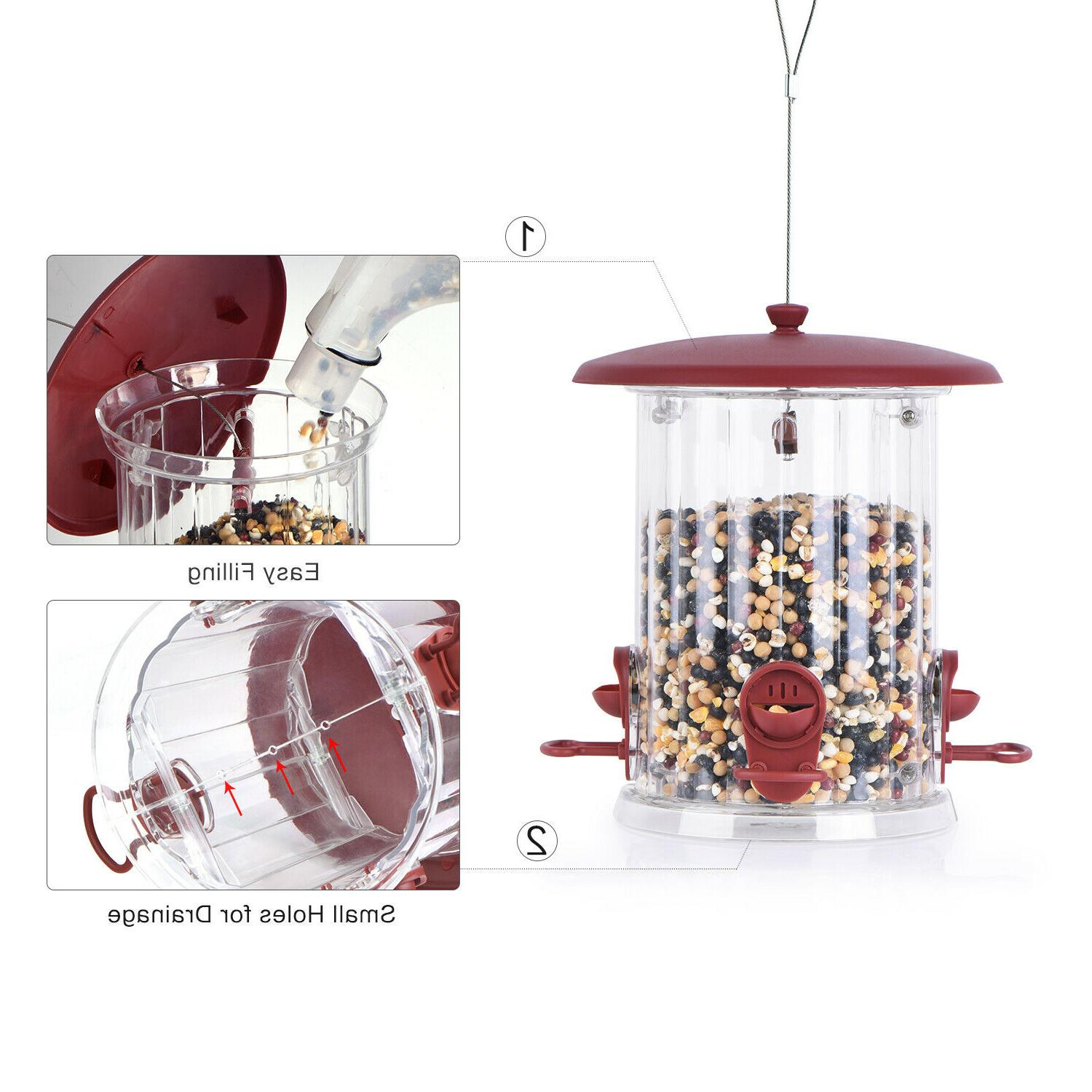 🐦BOLITE Bird Feeders Reddish Brown,